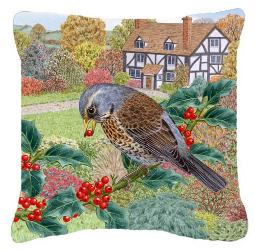 Fieldfare by Sarah Adams Canvas Decorative Pillow ASAD0678PW1414 by Caroline's Treasures