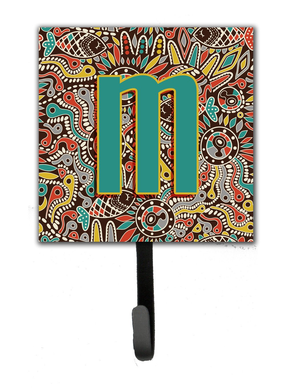 Letter M Retro Tribal Alphabet Initial Leash or Key Holder CJ2013-MSH4 by Caroline's Treasures