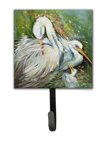 Buy this White Egret in the rain Leash or Key Holder JMK1210SH4