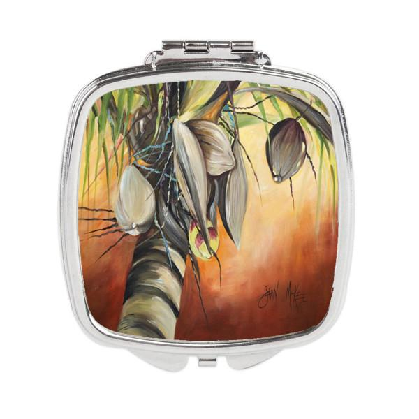 Orange Coconut Tree Compact Mirror JMK1280SCM by Caroline's Treasures