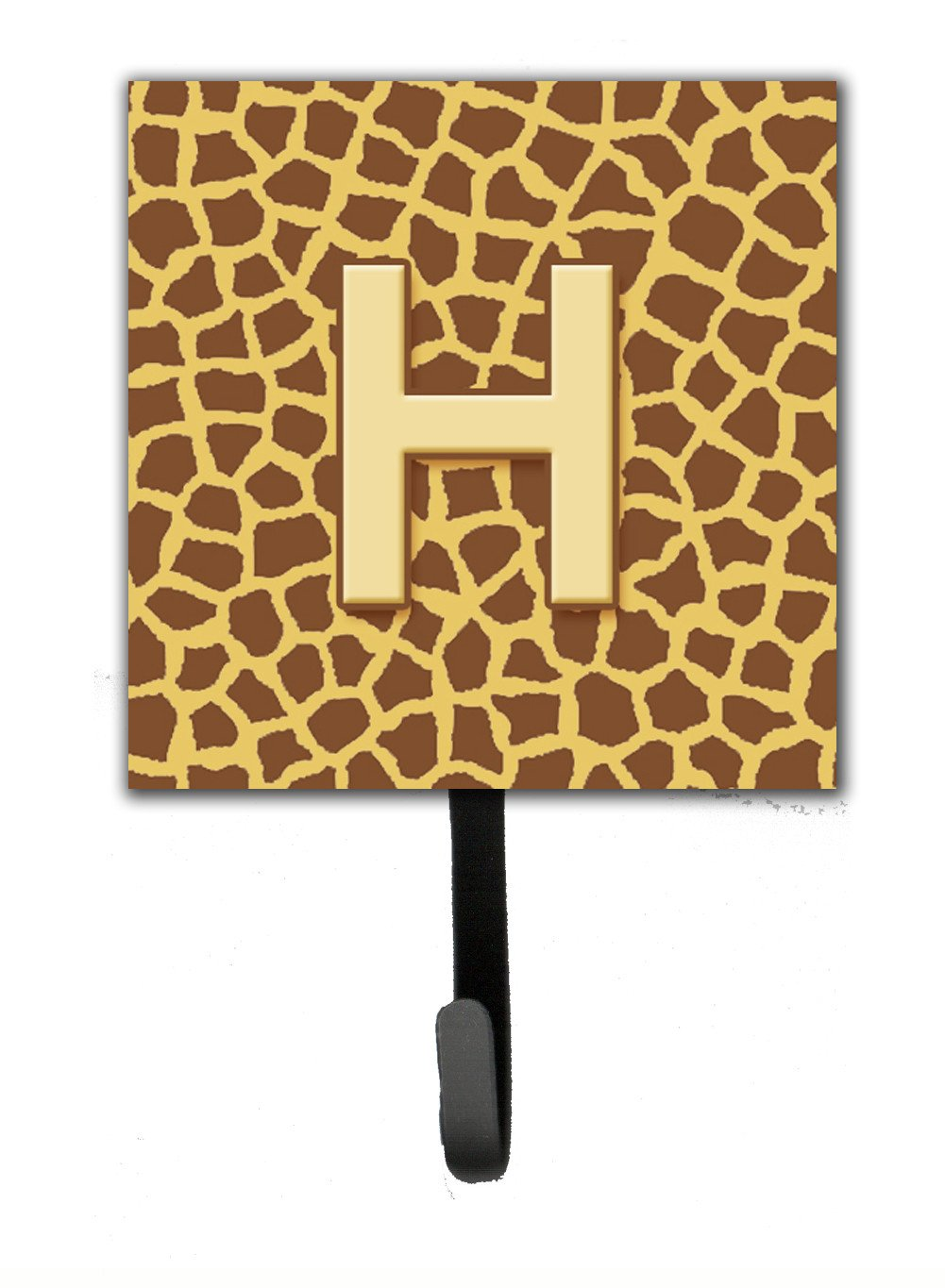 Buy this Letter H Initial Monogram - Giraffe Leash Holder or Key Hook