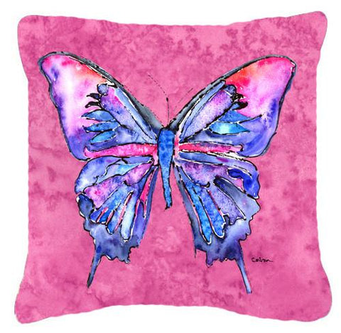 Buy this Butterfly on Pink   Canvas Fabric Decorative Pillow
