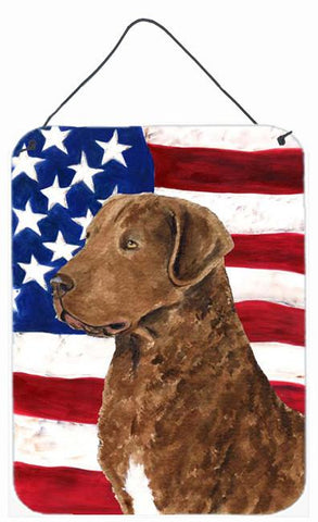 Buy this USA American Flag with Curly Coated Retriever Wall or Door Hanging Prints