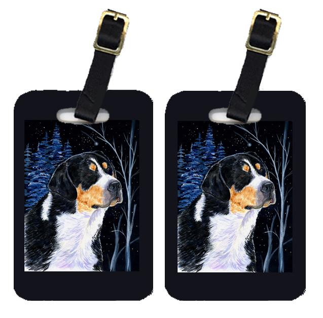 Starry Night Bernese Mountain Dog Luggage Tags Pair of 2 by Caroline's Treasures