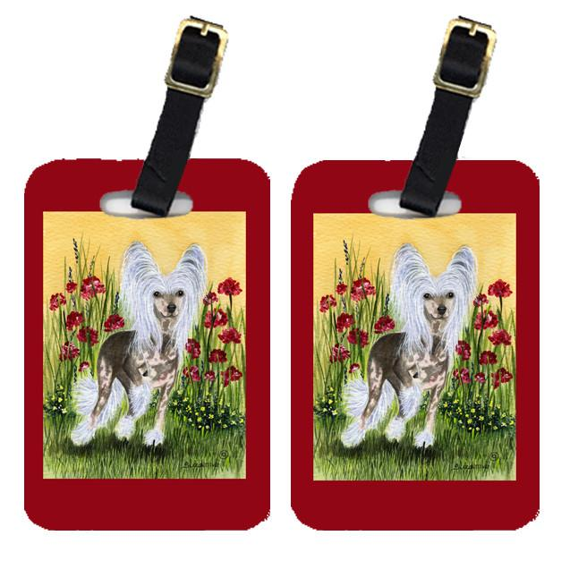 Pair of 2 Chinese Crested Luggage Tags by Caroline's Treasures