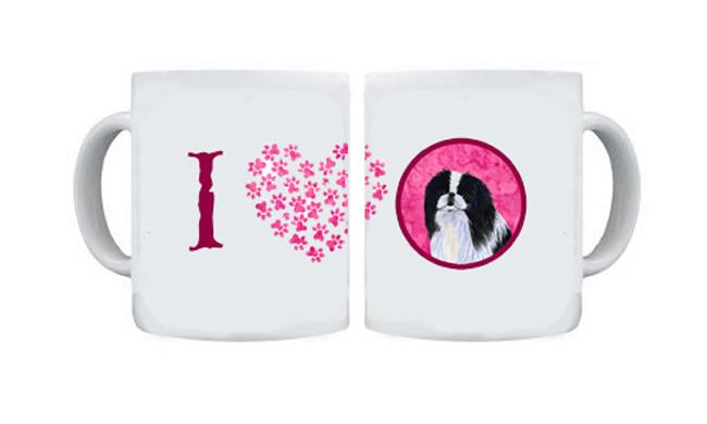 Japanese Chin  Dishwasher Safe Microwavable Ceramic Coffee Mug 15 ounce SS4743 by Caroline's Treasures
