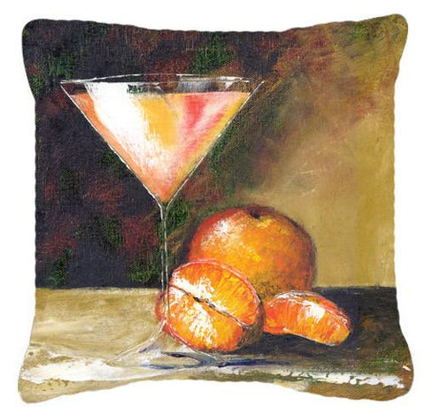 Buy this Orange Martini by Malenda Trick Canvas Decorative Pillow TMTR0036PW1414