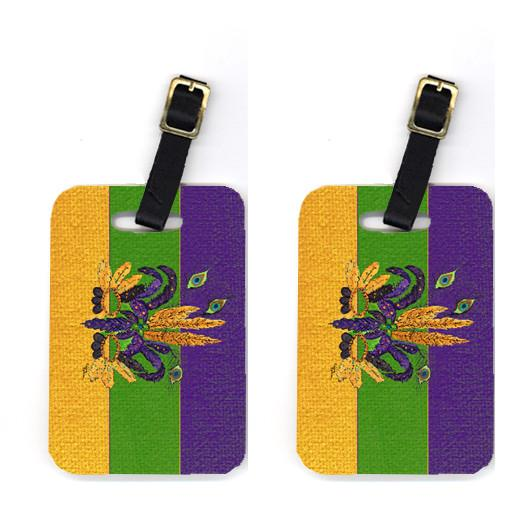 Buy this Pair of 2 Mardi Gras Mask Luggage Tags