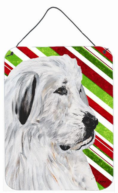Great Pyrenees Candy Cane Christmas Wall or Door Hanging Prints SC9810DS1216 by Caroline's Treasures