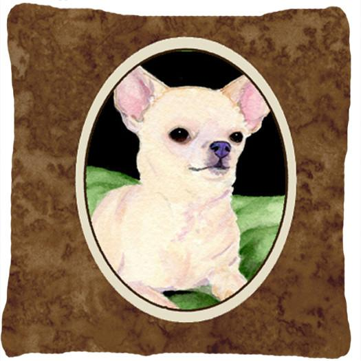 Chihuahua Decorative   Canvas Fabric Pillow by Caroline's Treasures