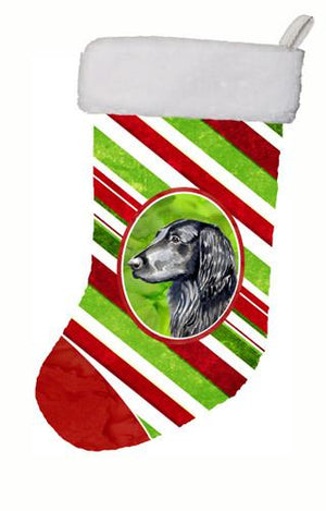 Buy this Flat Coated Retriever Candy Cane Holiday Christmas Christmas Stocking LH9231
