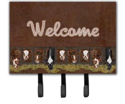 Buy this Welcome Mat with Cows Leash or Key Holder SB3058TH68