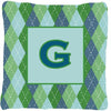 Monogram - Initial G Blue Argoyle Decorative   Canvas Fabric Pillow CJ1020 - the-store.com