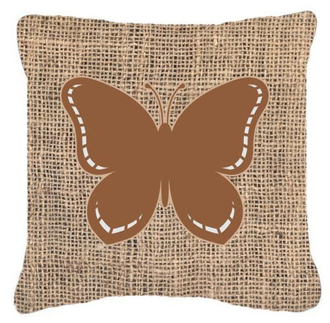 Buy this Butterfly Burlap and Brown   Canvas Fabric Decorative Pillow BB1035