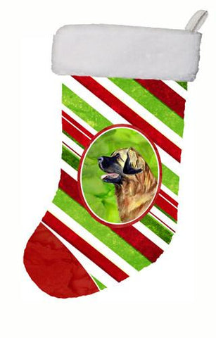 Buy this Leonberger Candy Cane Holiday Christmas Christmas Stocking LH9258