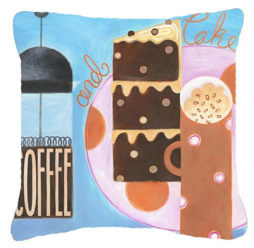 Buy this Kitchen Collection Coffee and Cake Canvas Decorative Pillow BCBR0116PW1414