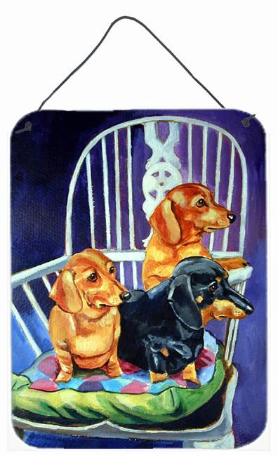 Buy this Dachshunds Two Red  a Black and Tan Aluminium Metal Wall or Door Hanging Prints