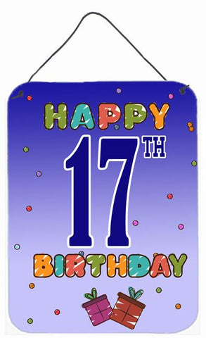 Buy this Happy 17th Birthday Wall or Door Hanging Prints CJ1108DS1216