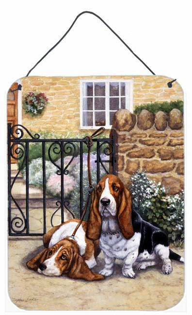 Basset Hound at the gate Wall or Door Hanging Prints BDBA0312DS1216 by Caroline's Treasures