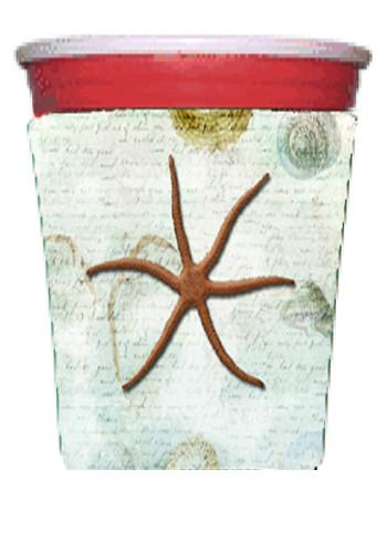 Starfish  Red Solo Cup Beverage Insulator Hugger by Caroline's Treasures