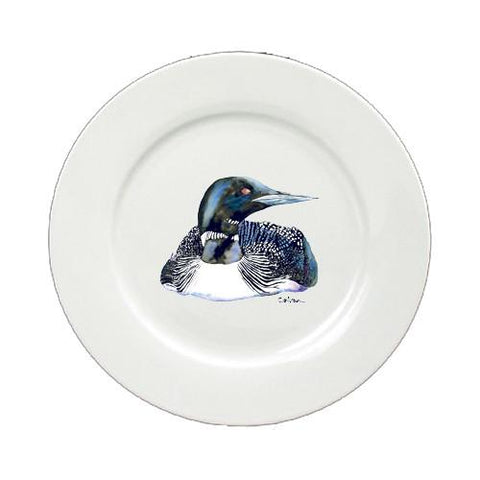 Buy this Loon Round Ceramic White Salad Plate 8717-DPW