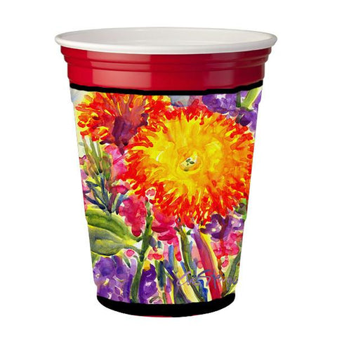 Buy this Flower - Aster Red Solo Cup Beverage Insulator Hugger