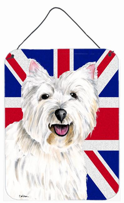 Westie with English Union Jack British Flag Wall or Door Hanging Prints SC9827DS1216 by Caroline's Treasures