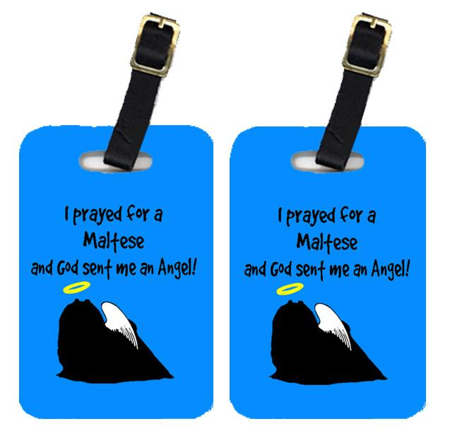 Pair of 2 Maltese Luggage Tags by Caroline's Treasures