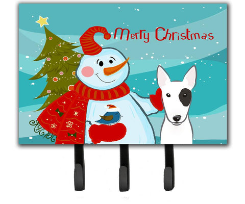 Buy this Snowman with Bull Terrier Leash or Key Holder BB1829TH68