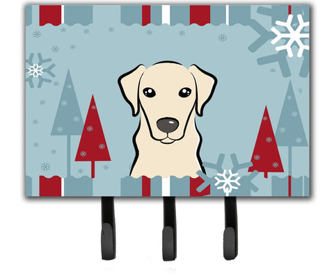 Buy this Winter Holiday Yellow Labrador Leash or Key Holder BB1718TH68
