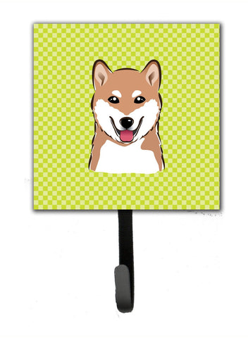 Buy this Checkerboard Lime Green Shiba Inu Leash or Key Holder BB1287SH4