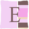 Buy this Letter E Initial Monogram - Pink Stripes Decorative   Canvas Fabric Pillow