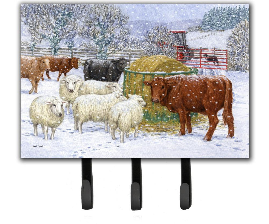 Buy this Cows and Sheep in the Snow Leash or Key Holder ASA2207TH68