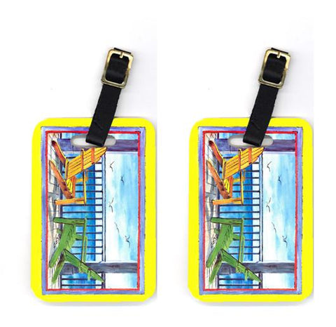 Buy this Pair of Adirondack Chairs Yellow Luggage Tags