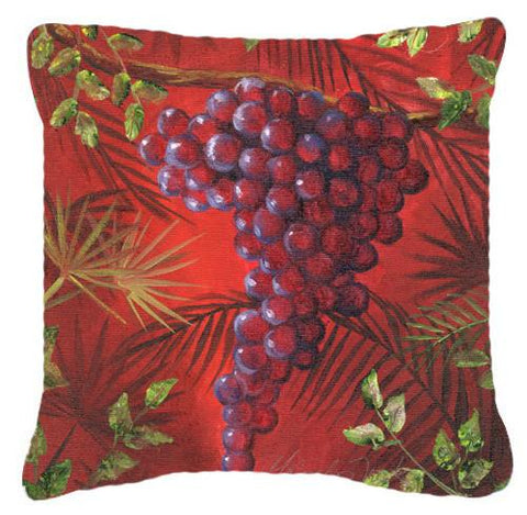 Buy this Sicillian Grapes by Malenda Trick Canvas Decorative Pillow TMTR0153PW1414