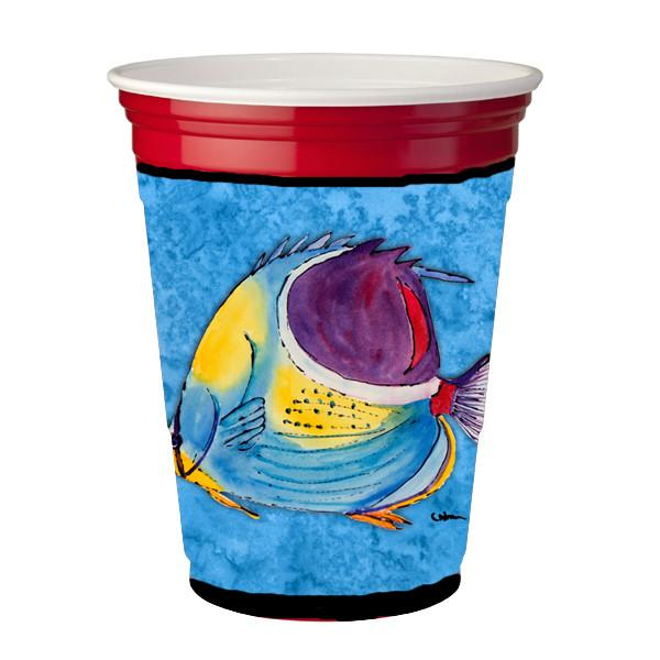 Tropical Fish  Red Solo Cup Beverage Insulator Hugger by Caroline's Treasures