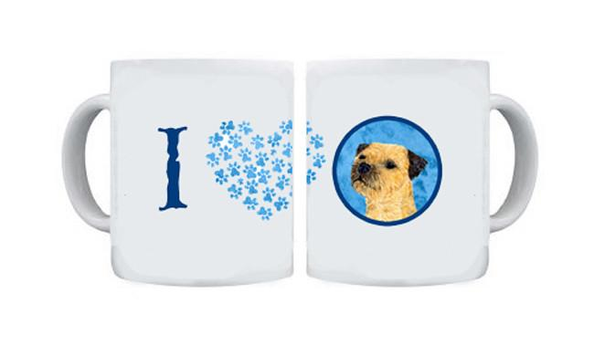 Border Terrier  Dishwasher Safe Microwavable Ceramic Coffee Mug 15 ounce by Caroline's Treasures
