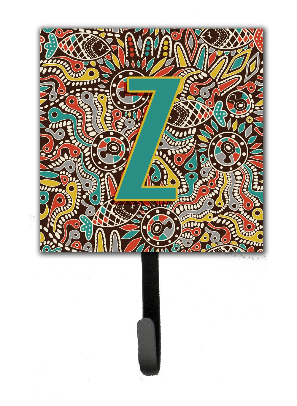 Buy this Letter Z Retro Tribal Alphabet Initial Leash or Key Holder CJ2013-ZSH4
