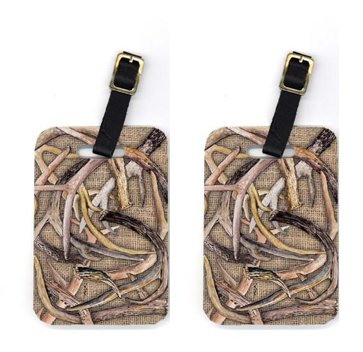 Buy this Pair of Deer Horns Luggage Tags