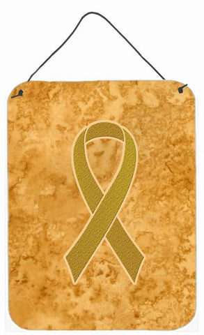 Buy this Gold Ribbon for Childhood Cancers Awareness Wall or Door Hanging Prints AN1209DS1216