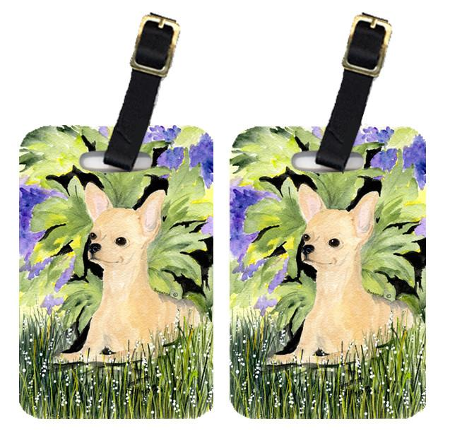 Pair of 2 Chihuahua Luggage Tags by Caroline's Treasures