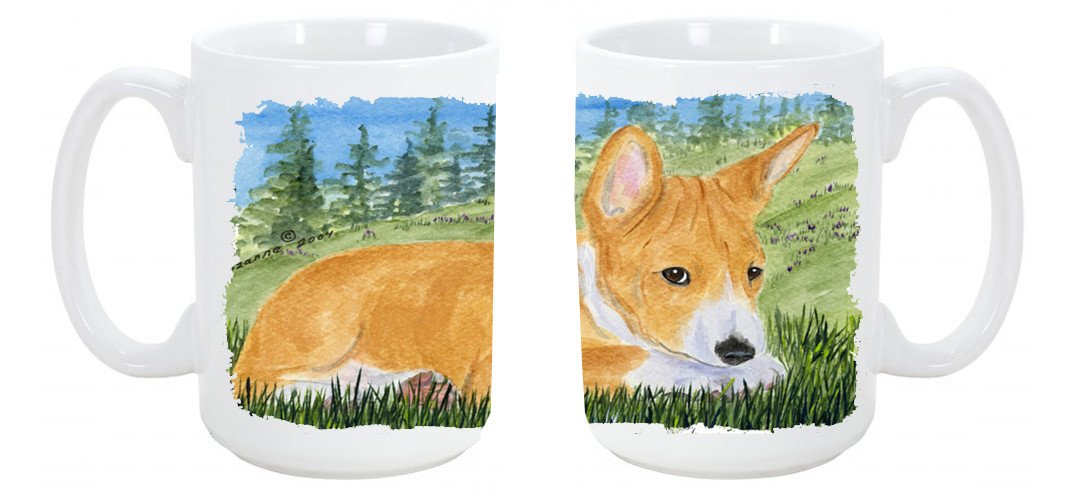 Basenji Dishwasher Safe Microwavable Ceramic Coffee Mug 15 ounce SS8016CM15 by Caroline's Treasures