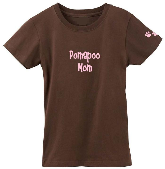 Pomapoo Mom Tshirt Ladies Cut Short Sleeve Adult Medium by Caroline's Treasures