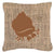 Buy this Hermit Crab Burlap and Brown   Canvas Fabric Decorative Pillow BB1102