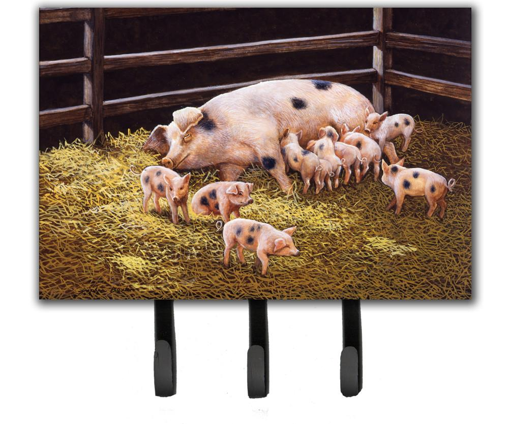 Pigs Piglets at Dinner Time Leash or Key Holder BDBA0296TH68 by Caroline's Treasures