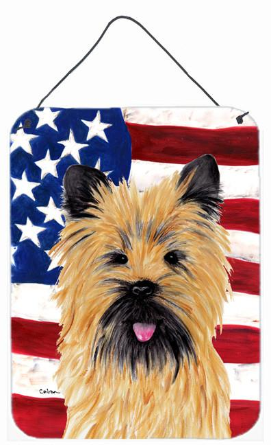 USA American Flag with Cairn Terrier Wall or Door Hanging Prints by Caroline's Treasures