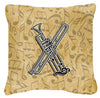 Buy this Letter X Musical Instrument Alphabet Canvas Fabric Decorative Pillow CJ2004-XPW1414