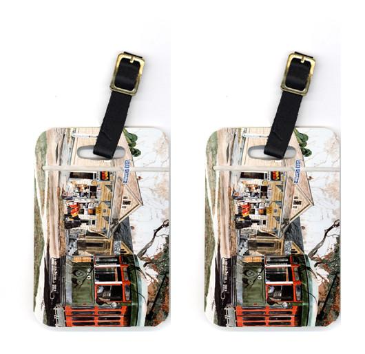 Buy this Pair of New Orleans Street Car Luggage Tags