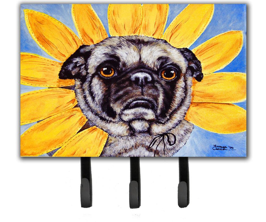 Buy this Sunflower Pug Leash or Key Holder AMB1058TH68