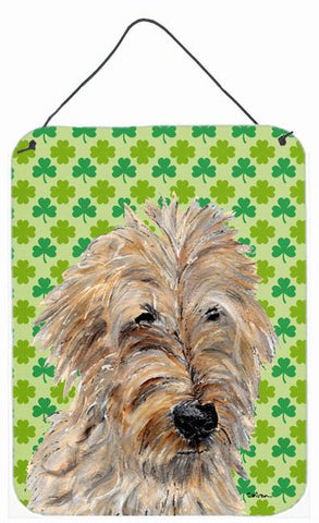 Buy this Golden Doodle 2 Lucky Shamrock St. Patrick's Day Wall or Door Hanging Prints SC9739DS1216